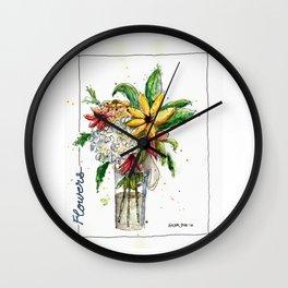 Flowers 1 Wall Clock