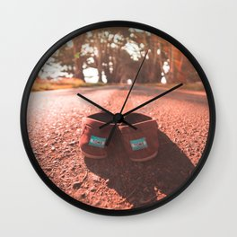 Shoeless & On the Go Wall Clock