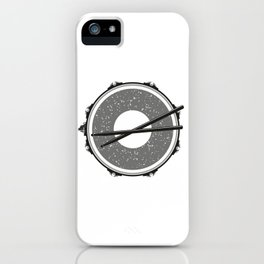 Drum with drumsticks iPhone Case