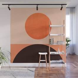 Abstraction_Sunrise_Minimal_002 Wall Mural