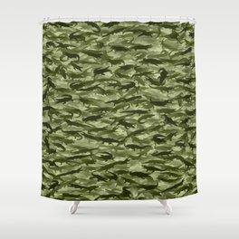 Crocodile camouflage Shower Curtain