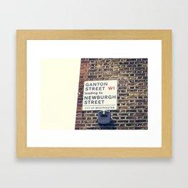 London street sign Framed Art Print