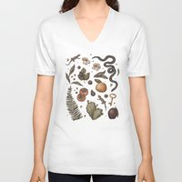 georgia V-neck T-shirts featuring Georgia Nature Walks by Jessica Roux