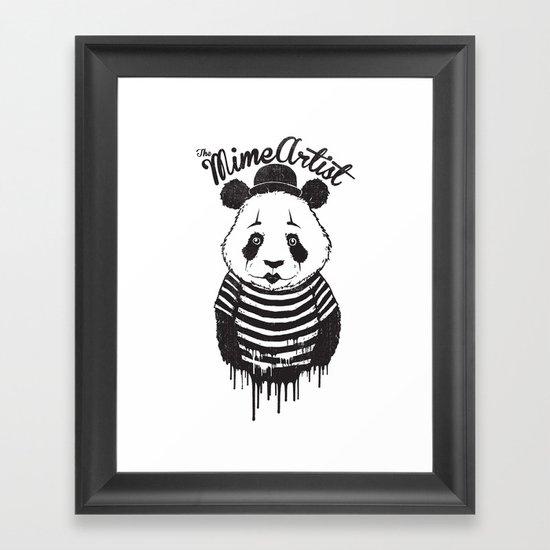The Mime Artist Framed Art Print