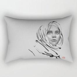 Jyn Erso: sketch-painting Rectangular Pillow