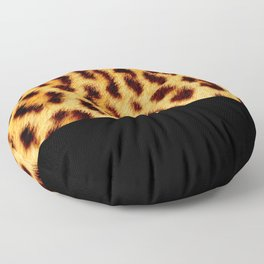 Leopard skin with black color Floor Pillow