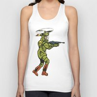 spaceship Tank Tops featuring SPACESHIP TROOPER by Noughton