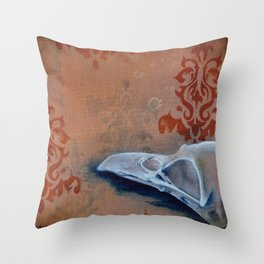 Oil Paint Study - Magpie Pattern Throw Pillow
