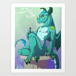 Emerald Dragon Art Print
