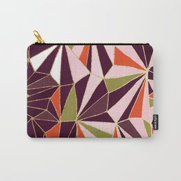 New Art Deco Geometric Pattern - Burgundi and Pink #deco #buyart Carry-All Pouch