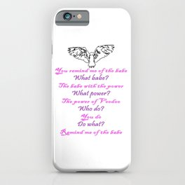 Labyrinth Remind Me of the Babe iPhone Case