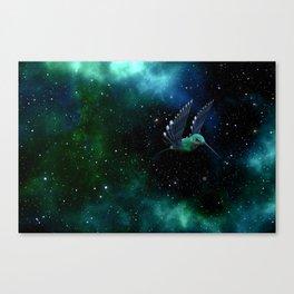 Space Hummingbird Canvas Print