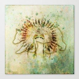 BEAR HEADDRESS Canvas Print