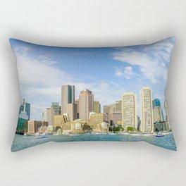 Boston harbor Rectangular Pillow