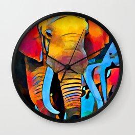 Elephant 3 Wall Clock