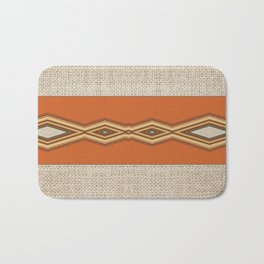 Southwestern Earth Tone Texture Design Bath Mat