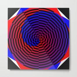 Red & Blue Spiral Metal Print