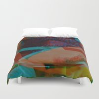 glitch Duvet Covers featuring Glitch by Candy Black
