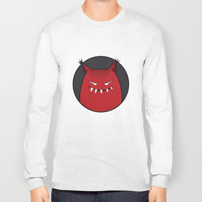 Evil Monster With Pointy Ears Long Sleeve T-shirt
