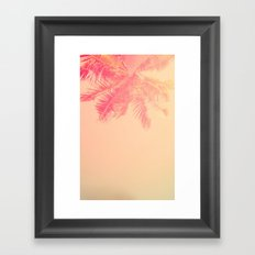 Pattern for palm Framed Art Print