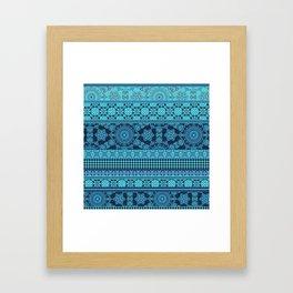 Ornate Moroccan in Blue Framed Art Print