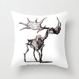 Irish Elk Skeleton Throw Pillow