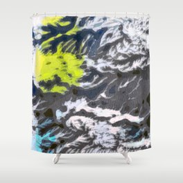 Lemon & the Blues Shower Curtain