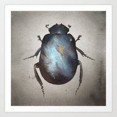 Galaxy Scarab Art Print