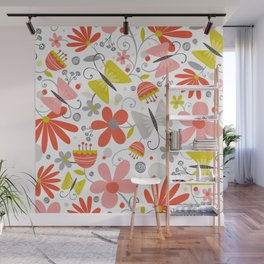 Busy Butterflies Wall Mural