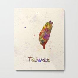 Taiwan in watercolor Metal Print