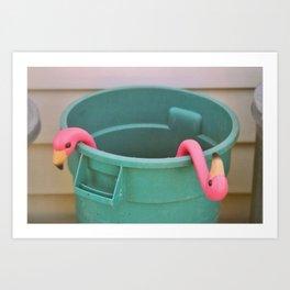 Flamingo Junk Art Print