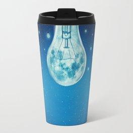 bulb moon night Travel Mug