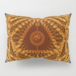 Mandala of Radiant Abundance (grey-gold) Pillow Sham
