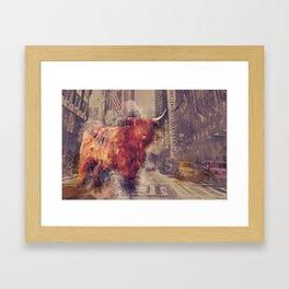 Sightseeing Cattle Framed Art Print