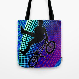 BMX in Fractal Movie Marquee Tote Bag