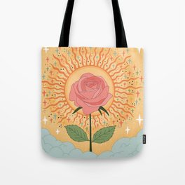 Protected by the golden light Tote Bag