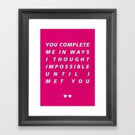 Complete Me Framed Art Print