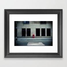 Manhattan Street Minimalism Framed Art Print