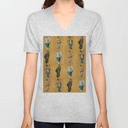 """William-Adolphe Bouguereau """"Seasons"""" Unisex V-Neck"""