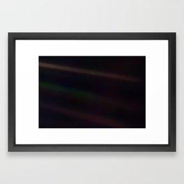 Mote of dust, suspended in a sunbeam Framed Art Print