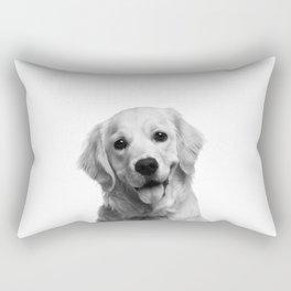 Cute Golden Retriever Rectangular Pillow