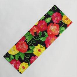 Vintage Wallpaper Black Yoga Mat
