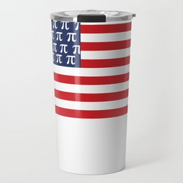 Usa American Flag Pi Day Math Funny Gifts Travel Mug