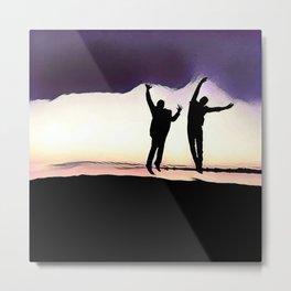 Sunset Jump Metal Print