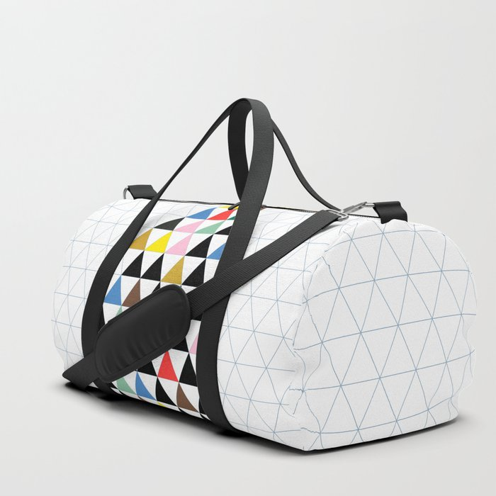 Geometric Christmas Tree Duffle Bag