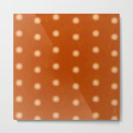 """Polka Dots Degraded & Orange Cream"" Metal Print"