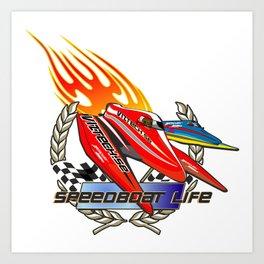 speed boat tee Art Print