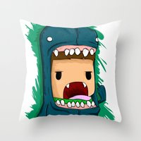 monster Throw Pillows featuring monster by jeff'walker
