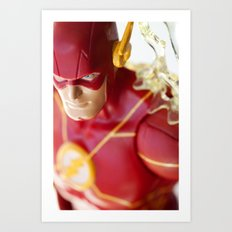 The Fastest Man On Earth Art Print