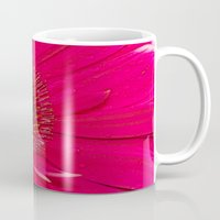 hot pink Mugs featuring Hot Pink by Paul & Fe Photography